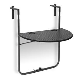 image-Jaydon Folding Balcony Table Sol 72 Outdoor Tabletop Colour: Black