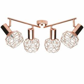 image-Stanhope 4 - Light Kitchen Island Linear Pendant Mercury Row Finish: Copper, Shade Colour: Copper