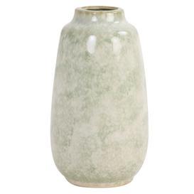 image-Glazed Ceramic Vase, Green and White