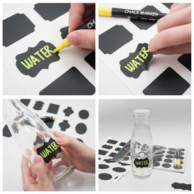 image-205 Piece Stickers Wall Mounted Chalkboard Set Symple Stuff