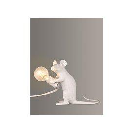 image-Seletti Sitting Mouse Table Lamp, White