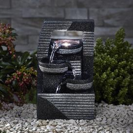 image-Tollefson Polystone Fountain with LED Light Sol 72 Outdoor