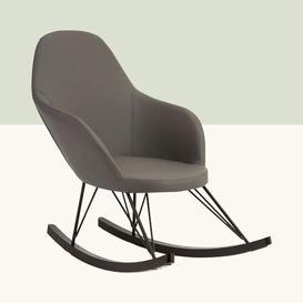 image-Adeline Rocking Chair Hykkon Fabric: Dark Grey