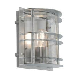 image-Norlys ST/FLU E27 GAL C Stockholm 1 Light Flush Wall Light - Galvanised - With Clear Glass