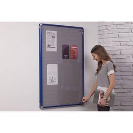 image-Smartshield Tamperproof Noticeboard, Blue/Blue