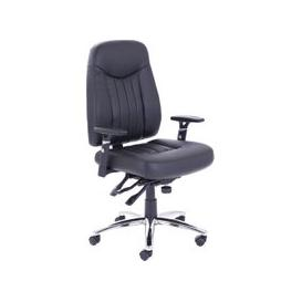 image-Cadiz Leather Operator Chair, Black