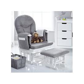 image-Obaby Reclining Nursing Chair and Stool