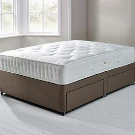 image-Fogarty Orthopaedic 1000 Mattress and Sprung Edge Divan Set with 4 Drawers Chocolate (Brown)