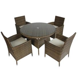 image-Nohemi 4 Seater Dining Set with Cushions Sol 72 Outdoor Colour: Natural