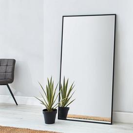 image-Apartment Leaner Mirror 150x80cm Black Silver
