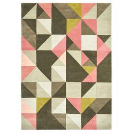 image-Tielles Rose Rug - 170 x 240 / Pink / Wool