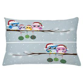 image-Yusra Christmas Family on Tree Outdoor Cushion Cover Ebern Designs Size: 40cm H x 65cm W