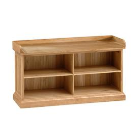 image-Appleby Oak Shoe Storage Bench (no cushion)