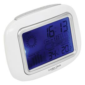 image-Weather Station Clock London Clock Company Finish: White