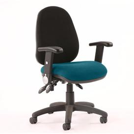 image-Mid-Back Desk Chair Symple Stuff Colour: Kingfisher