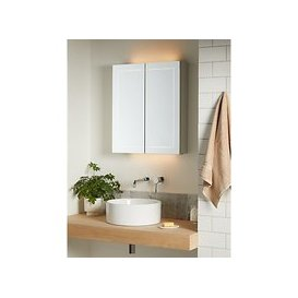 image-John Lewis & Partners Enclose Double Mirrored and Illuminated Bathroom Cabinet