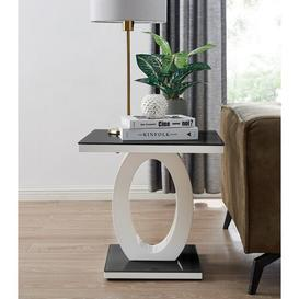 image-Caernarfon Side Table Wade Logan Colour: Black