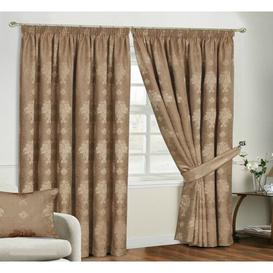 image-Virgina Pencil Pleat Room Darkening Thermal Curtains Textile Home Panel Size: 117 W x 183 D cm, Colour: Coffee