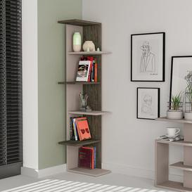 image-Corner Bookcase Symple Stuff Colour: Light Mocha/Dark Coffee