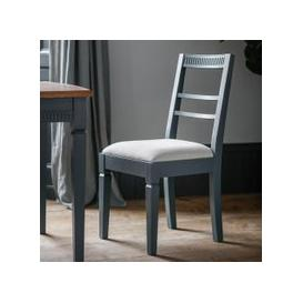 image-Gallery Set of 2 Bronte of Dining Chairs in Storm Blue