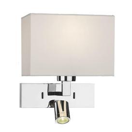 image-Dar MOD7150L Modena LED Wall Light With Polished Chrome Base