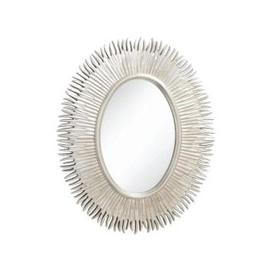 image-RV Astley Moher, Silver Leaf Finish Oval Mirror