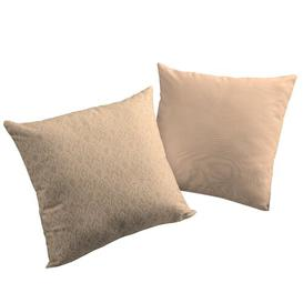 image-Woulk Cotton Cushion Cover Bloomsbury Market Colour: Light Brown, Size: 50cm H x 50cm W x 0.5cm D