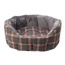 image-Brentford Bolster Cushion in Grey/Yellow Archie & Oscar Size: Medium (60cm W x 65cm D x 25cm H)
