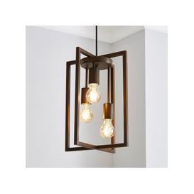 image-London 3 Light Bronze Industrial Pendant fitting Brown