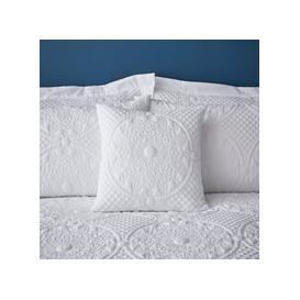 image-Mandalay White Square Cushion White