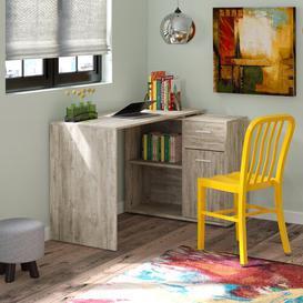 image-Francisca Writing Desk Zipcode Design Colour: Oak sand and oak