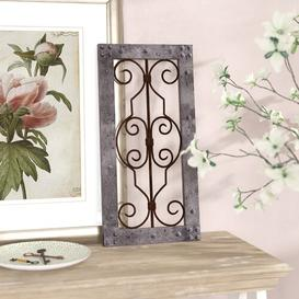image-Wood/Metal Wall Decor Fleur De Lis Living