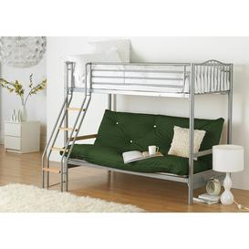 image-Halkyn 15cm Cotton Futon Mattress Symple Stuff Size: Small Single (2'6), Colour: Bottle Green