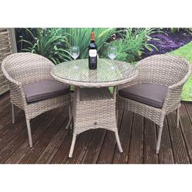 image-Signature Weave Garden Furniture Darcey Bistro Set with 2 Stacking Chair