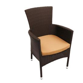 image-Destiney 6 Seater Dining Set with Cushion Sol 72 Outdoor Colour: Brown