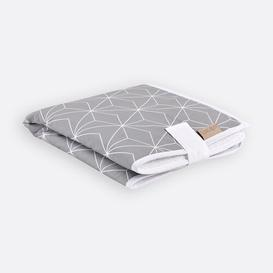 image-White Thin Diamonds Travel Changing Mat KraftKids Colour: Grey/Brown/Blue