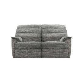 image-G Plan - Watson 2 Seater Fabric Manual Recliner Sofa - Grey