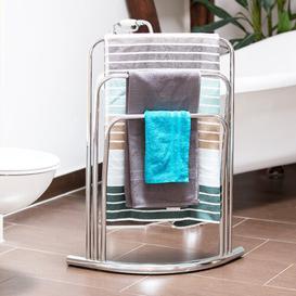 image-Beyers Freestanding 3 Bars Towel Rack Stand Metro Lane