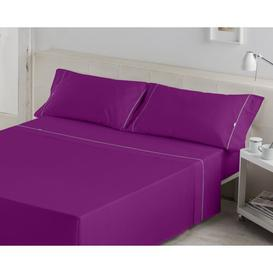 image-Debi 144 Thread Count Sheet Set Ebern Designs Size: Kingsize (5'), Colour: Dark Purple