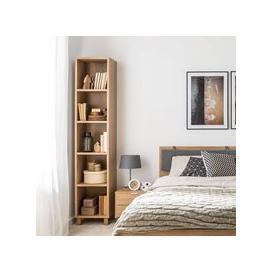 image-Vox Simple Narrow Single Bookcase - Black