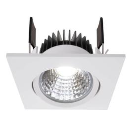 image-Cob 1-Light LED Slim Profile Recessed Lighting Kit Deko Light Colour: Signal white, Colour temperature of the bulb: 4000 K