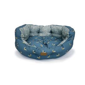image-Fatface Bolster Cushion in Teal Danish Design Size: 38cm H x 102cm W x 86cm D