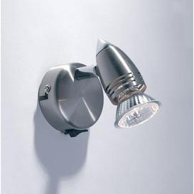 image-GEM0746S Gemini Satin Chrome LED Wall Light Spotlight