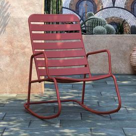image-Novogratz Furniture Roberta Outdoor/Indoor Red Metal Rocking Chair