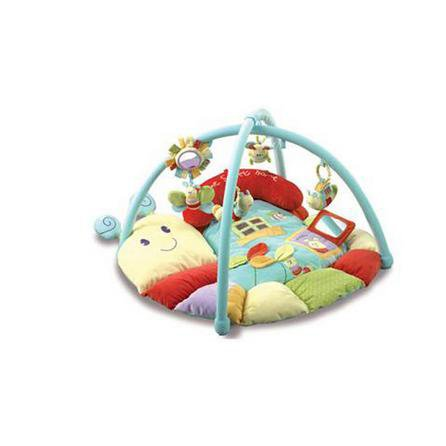 image-Little Bird Told Me Softly Snail Snuggle Time Playmat and Gym MultiColoured