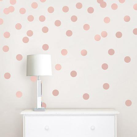 image-Wallpops Self Adhesive Rose Gold Effect Confetti Dots Rose Gold