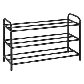 image-Arnie Black Metal Shoe Rack, Black