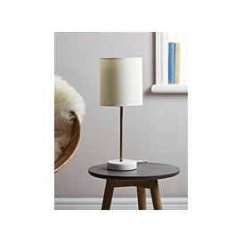 image-Small Marble Base Table Lamp - Brass