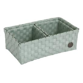 image-Volterra Plastic Basket Handed By Colour: Greyish Green