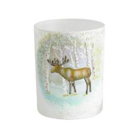 image-Libra Winter Scene with Moose Candle Holder - Xmas-18